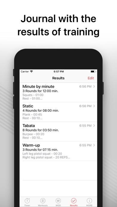 WOD Timer pro - training hiit Screenshots