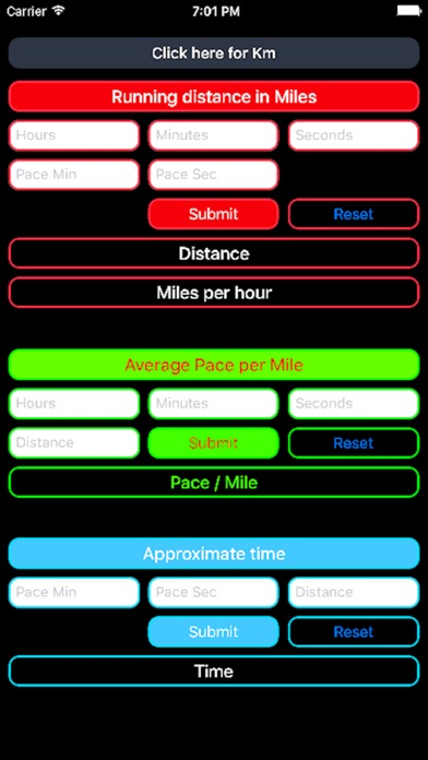 Running Calculator Screenshots