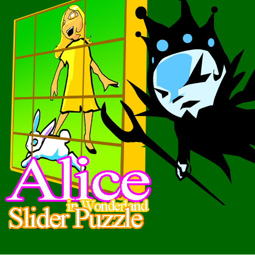 Alice in Wonderland - Sliding Puzzle Game