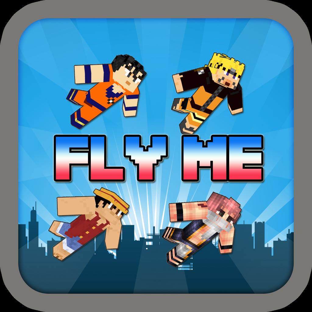 Flappy Manga Hero Skin Fly Me - Block Craft World Edition