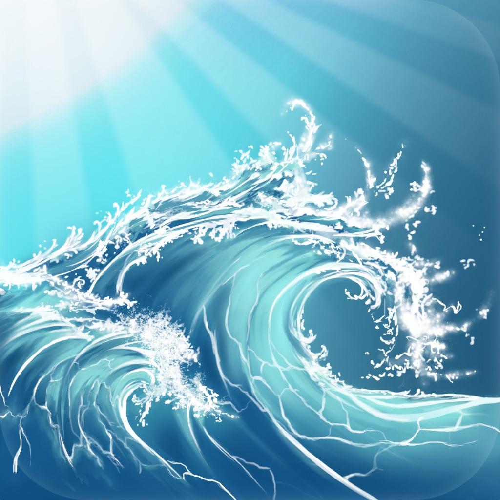Sunny ~ Calm wave & ocean sounds to Sleep Relax Meditate on the beach with rain and sea birds