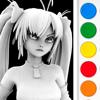 Figuromo Artist : Yuki Sword Anime Girl - 3D Color Combine and Design Sculpture
