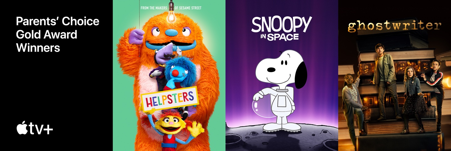 Apple TV+ Parent's Choice Gold Award Winners: Helpsters, Snoopy in Space, Ghostwriter