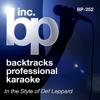 Karaoke: In the Style of Def Leppard (Karaoke Version) - Backtrack Professional Karaoke Band