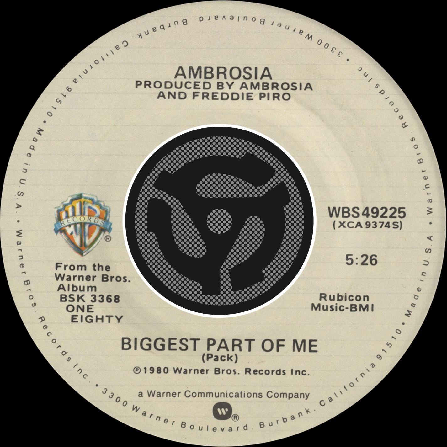 Biggest Part of Me / Livin' On My Own [Digital 45] - Single