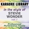 In the Style of Stevie Wonder - Vol. 1 (Karaoke - Professional Performance Tracks) - Karaoke Library
