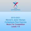 USA Gymnastics - 2013-2021 Women's Junior Olympic Compulsory Floor Exercise (Music For Competition)  artwork
