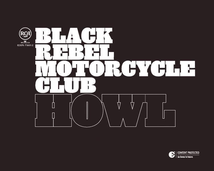 Howl Black Rebel Motorcycle Club CD cover