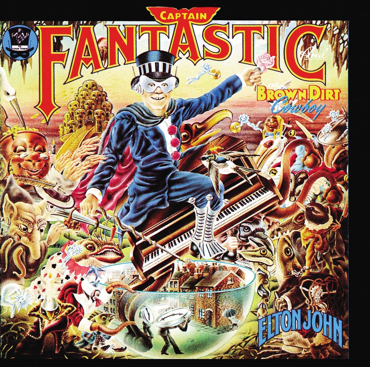 Captain Fantastic and the Brown Dirt Cowboy Elton John CD cover