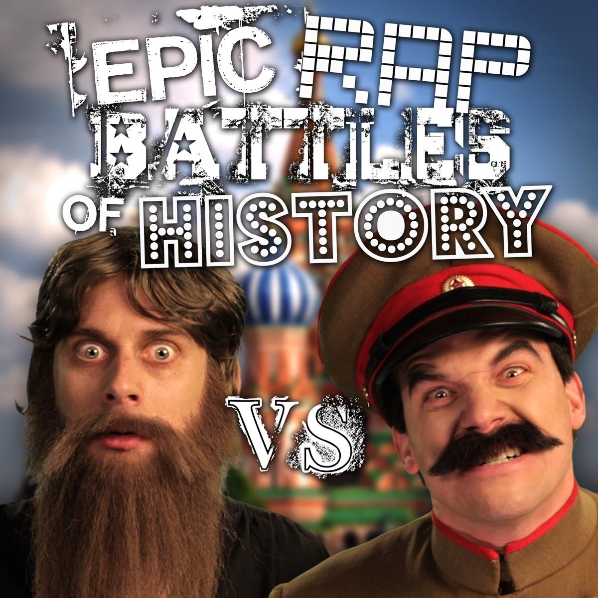 Rasputin vs Stalin - Single Album Cover by Epic Rap Battles