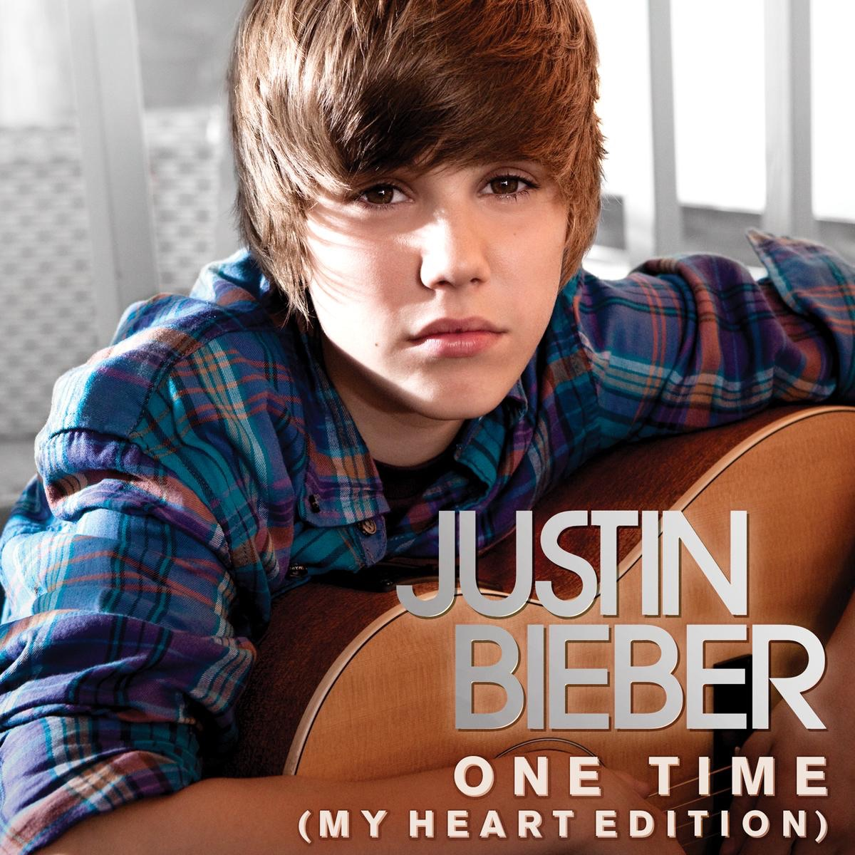 Justin Bieber - One Time (My Heart Edition) - Single Cover