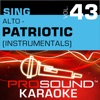 Sing Alto Patriotic Vol 43 Karaoke Performance Tracks