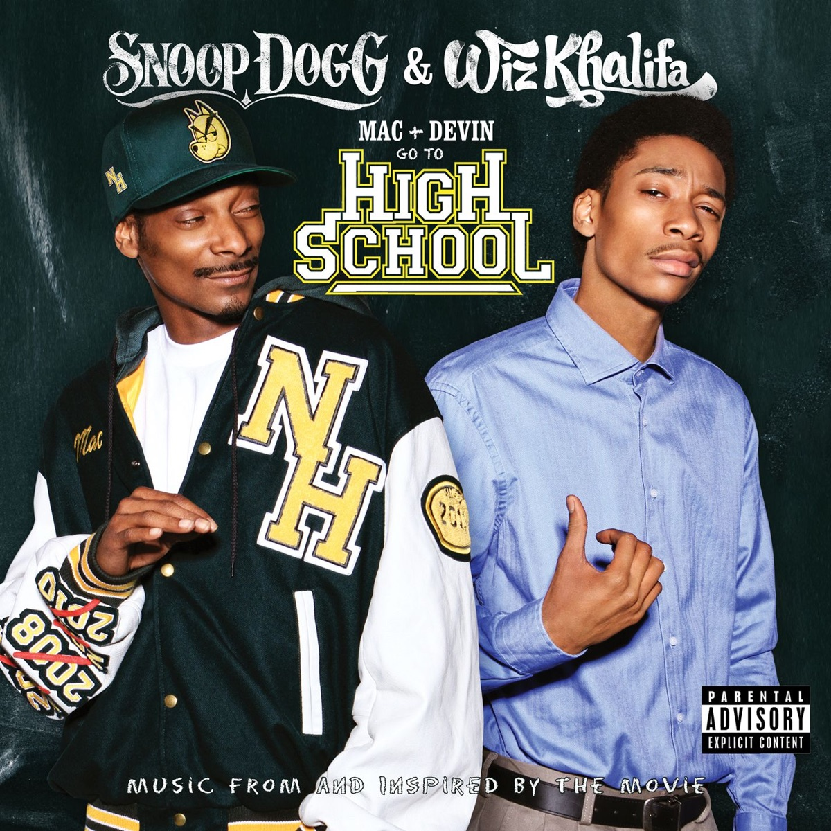 Mac and Devin Go to High School Music from and Inspired By the Movie Deluxe Version Snoop Dogg  Wiz Khalifa CD cover