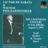 Verdi, G.: Overture To I Vespri Siciliani - Berlioz, H.: Le Carnaval Romain - Strauss, R.: Tod Und Verklarung (Vienna Philharmonic, De Sabata) (1953), Vienna Philharmonic & Victor de Sabata