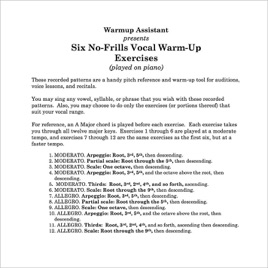 voice warm up exercises to improve range essay Warm up your voice everyday, but especially before public speaking ideally, spend as much time practicing as you will in front of an audience do your vocal exercises help improve the aging voice (presbyphonia) i am 78 years old and beginning to notice the effects of age on my voice.