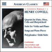 Henry Cowell: A Continuum Portrait, Vol. 1