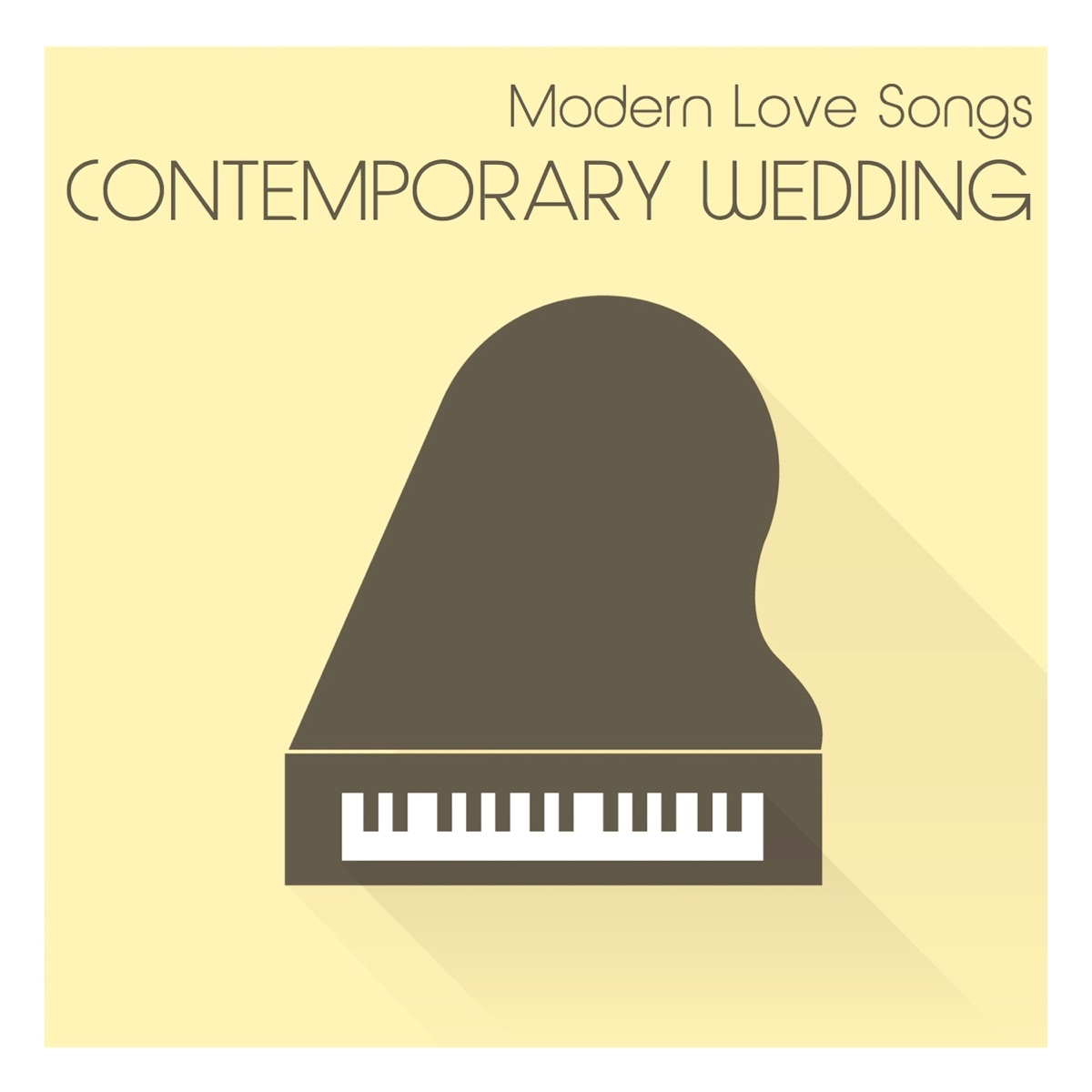 Modern Songs for a Contemporary Wedding One Piano CD cover