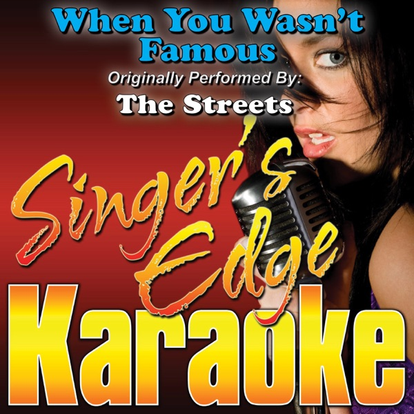When You Wasn't Famous (Originally Performed By the Streets) [Karaoke Version] - Single