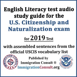 English Literacy Test Audio Study Guide for the U S  Citizenship and  Naturalization Exam with Assembled Sentences from the Official USCIS  Vocabulary