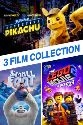 Detective Pikachu Lego Movie 2 Smallfoot 3 Film Collection On Itunes