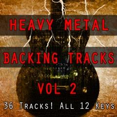 Hard Rock Heavy Metal Guitar Backing Tracks in all 12 Keys, Vol. 2