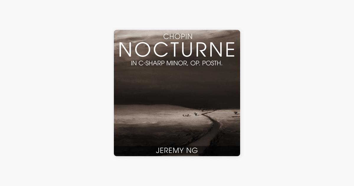nocturne for piano co. 20 in c sharp minor