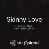 Skinny Love (In the Style of Birdy) [Piano Karaoke Version]