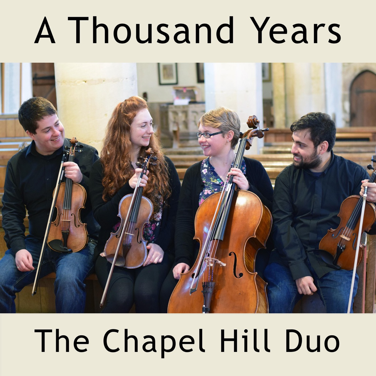 A Thousand Years Live String Quartet Wedding Ceremony Version - Single The Chapel Hill Duo CD cover