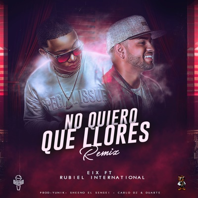 No Quiero Que Llores (Remix) [feat. Rubiel International] - Single MP3 Download