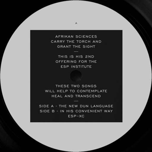 The New Dun Language B / W in His Convenient Way - Single by Afrikan Sciences