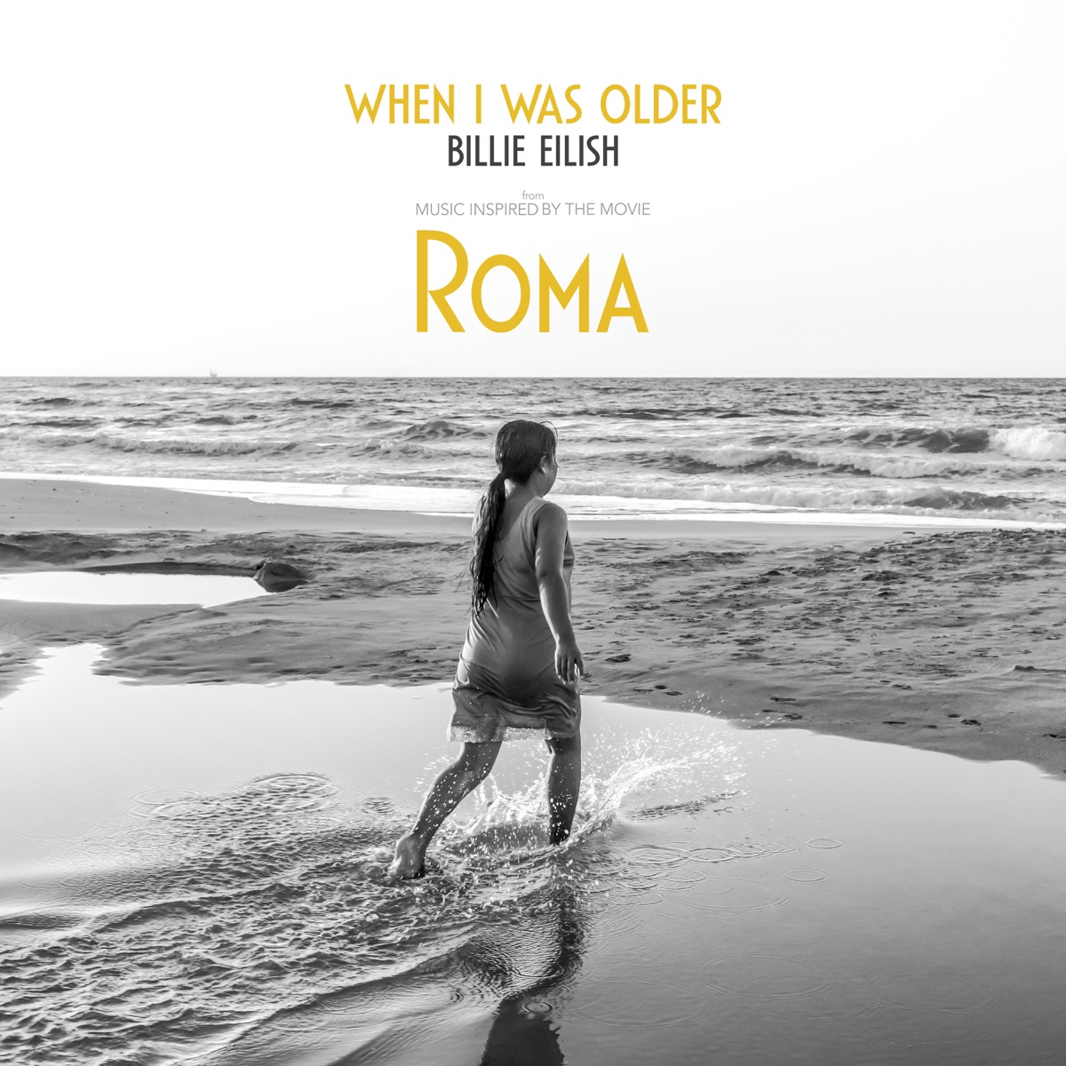 WHEN I WAS OLDER Music Inspired by the Film ROMA - Single Billie Eilish CD cover