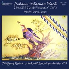 Violin Partita No. 2 in D Minor, BWV 1004 (Arr. W. Rübsam for Lute-Harpsichord): III. Sarabande