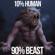 Fearless Motivation - 10% Human 90% Beast (Gym Motivational Speeches)