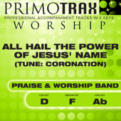 All Hail the Power of Jesus' Name (Medium Key - F - without Backing Vocals) [Performance Backing Track]
