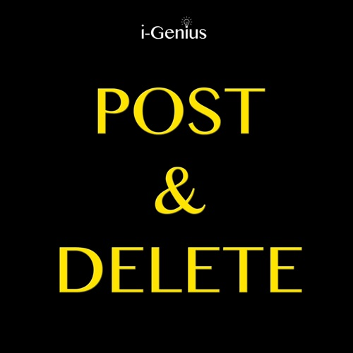 i-genius - Post & Delete (Instrumental Remix) - Single