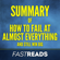 FastReads - Summary of How to Fail at Almost Everything and Still Win Big by Scott Adams  Includes Key Takeaways & Analysis (Unabridged)