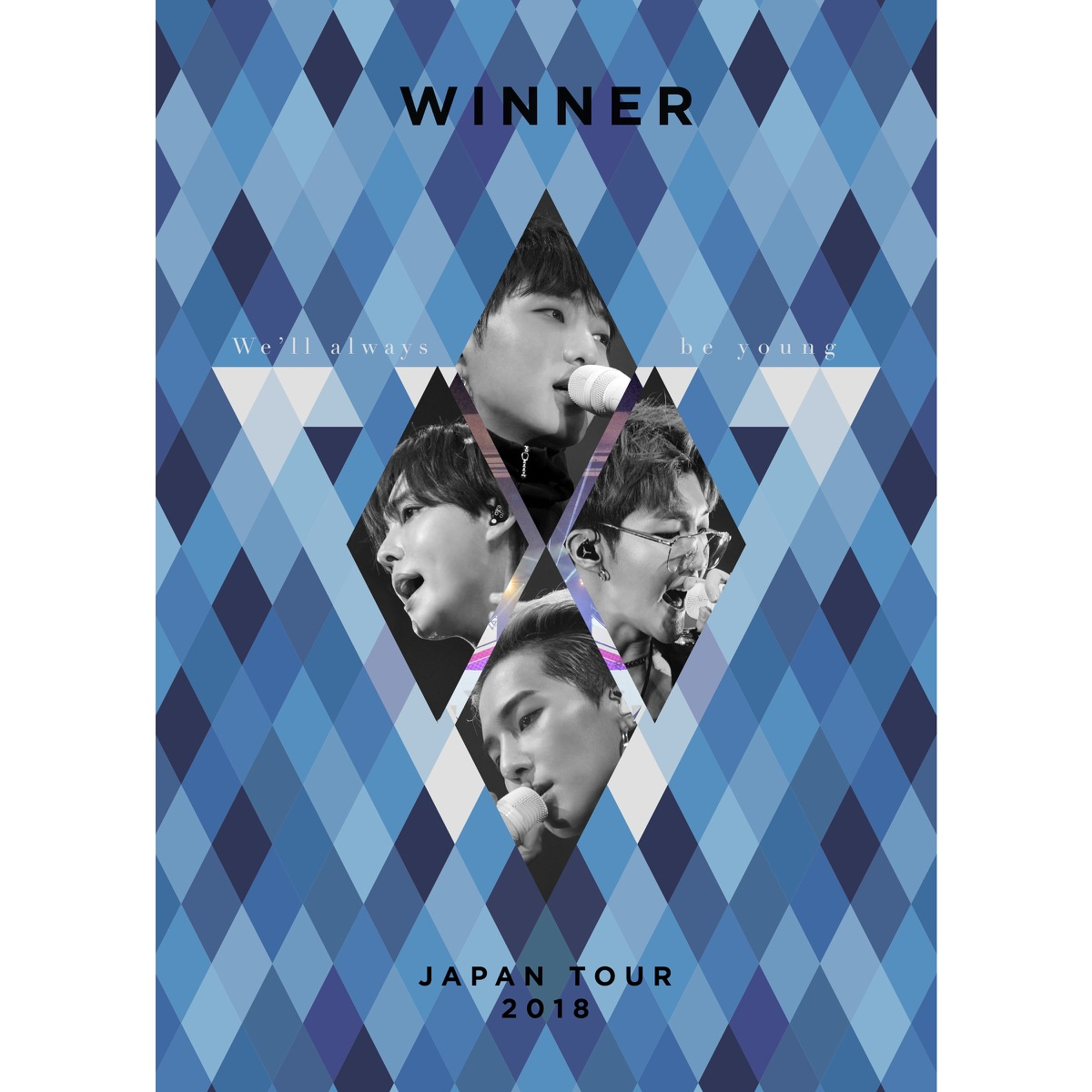 WINNER JAPAN TOUR 2018 Well always be young WINNER CD cover