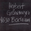 Herbert Grönemeyer - Bochum Grafik