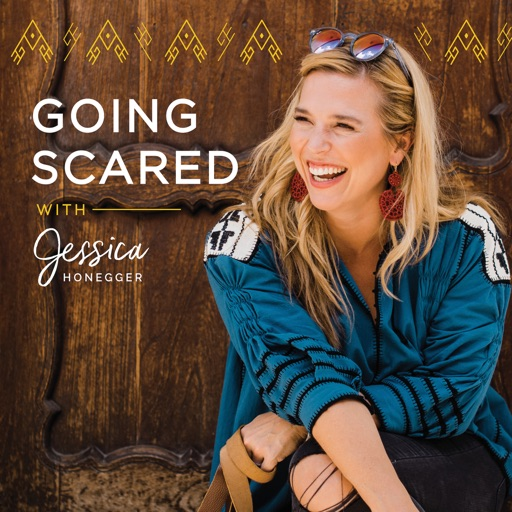 Cover image of The Going Scared Podcast with Jessica Honegger