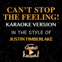 Can't Stop the Feeling! (In the Style of Justin Timberlake) [Karaoke Version] - Single