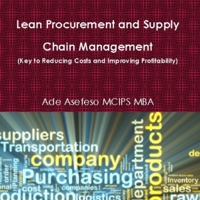 Ade Asefeso MCIPS MBA - Lean Procurement and Supply Chain Management: Key to Reducing Costs and Improving Profitability (Unabridged) artwork