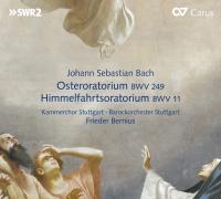 Kammerchor Stuttgart, Barockorchester Stuttgart & Frieder Bernius - Bach: Oster-Oratorium, BWV 249 & Himmelfahrtsoratorium, BWV 11 (Oratorios for Easter & Ascension Day) artwork