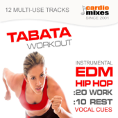 Tabata Workout 2015, 20 / 10 Intervals (12 Edm & Hip Hop Tracks with Vocal Cues )