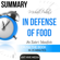 Ant Hive Media - Michael Pollan's In Defense of Food: An Eater's Manifesto Summary (Unabridged)