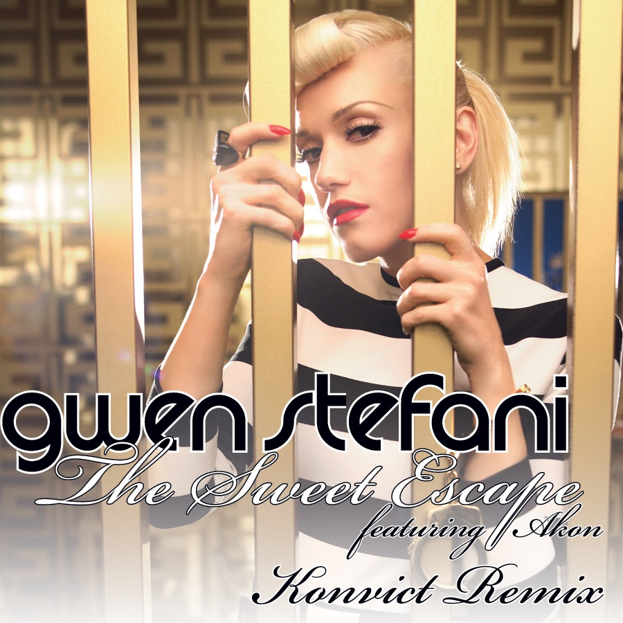 The Sweet Escape Album Cover by Gwen Stefani featuring Akon