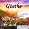 Johann Wolfgang von Goethe - Willkommen und Abschied Grafik