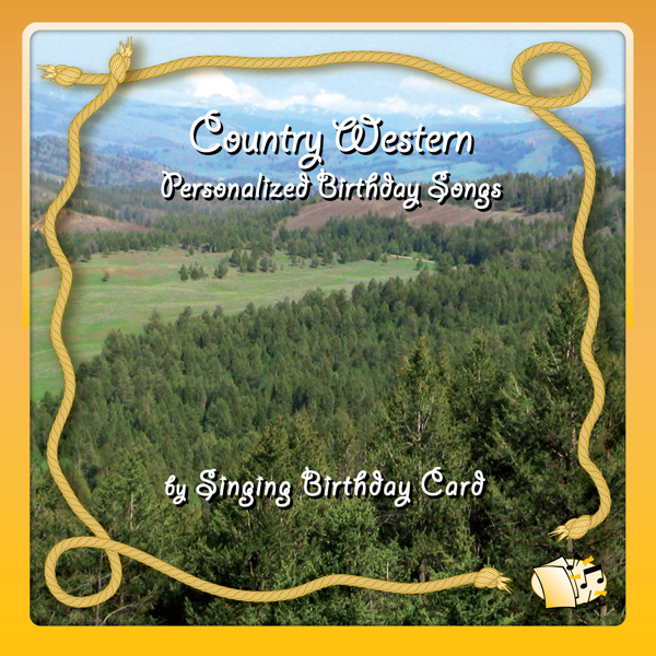 Country Western Personalized Birthday Songs By Singing Birthday Card
