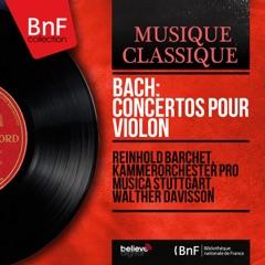 Bach: Concertos pour violon (Mono Version)
