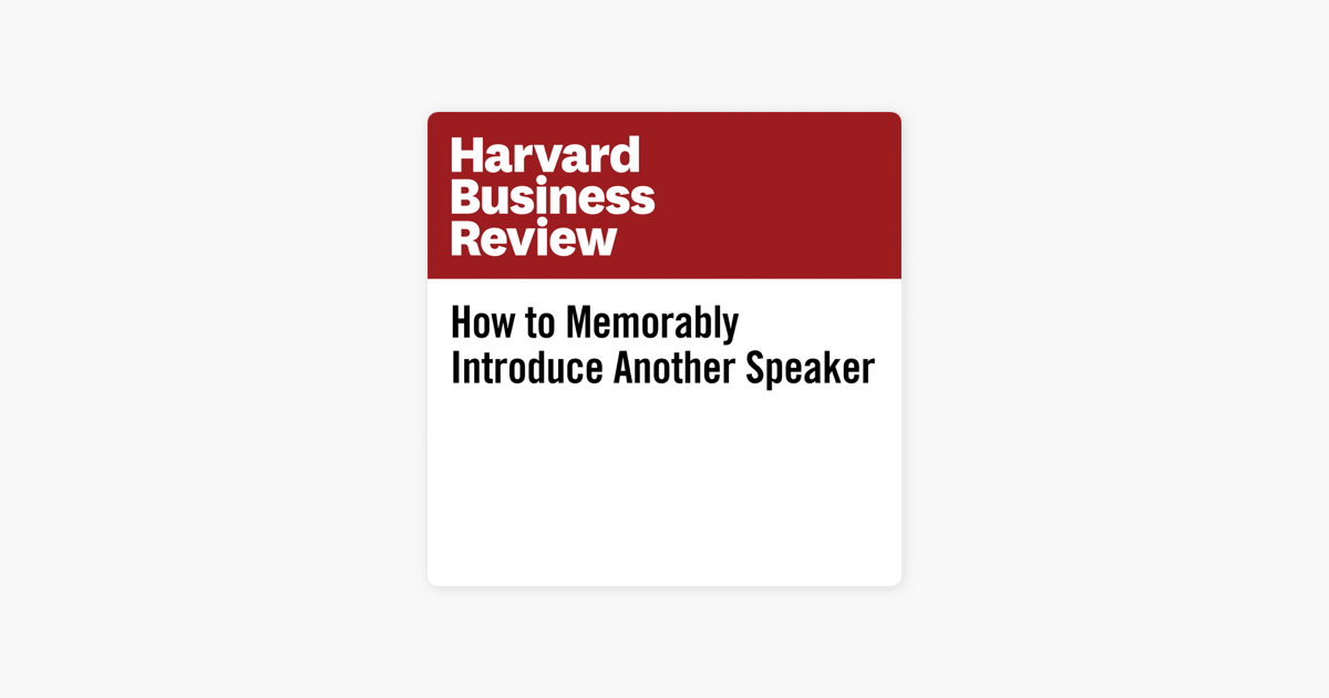 ‎How to Memorably Introduce Another Speaker (Unabridged)