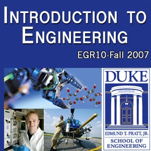 EGR 10: Introduction to Engineering - full course: audio